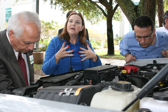 "FPL's ""green fleet"" of plug-in hybrids was featured at third annual Florida Colleges Energy Education Forum Jan. 31."