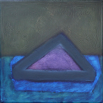 """""""Untitled"""" by Professor Wayne Stephens, mixed media on canvas, 5"""" x 5"""""""