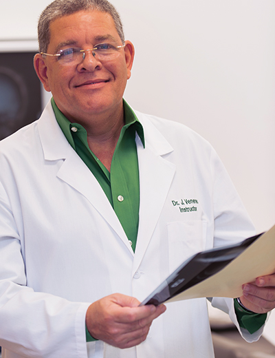 Jesus J. Venereo, M.D.,  Instructor, Medical Assisting – Lake Worth   Certified Pathologist, Higher Institute of Medical Sciences, Villa Clara, Cuba   M.D., Higher Institute of Medical Sciences, Havana, Cuba